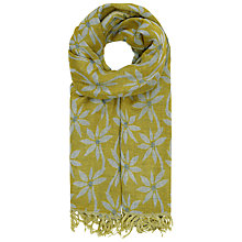 Buy Seasalt Awakening Herb Flower Cotton Scarf, Lime Online at johnlewis.com