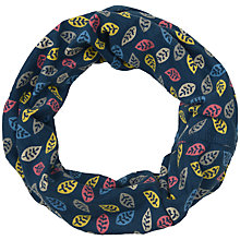 Buy Seasalt Handyband Leaf Cotton Scarf, Navy/Multi Online at johnlewis.com
