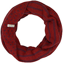 Buy Seasalt Leaze Reverse Cinnabar Snood, Red Online at johnlewis.com
