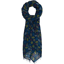 Buy Seasalt Pretty Leaf Cotton Scarf, Navy/Multi Online at johnlewis.com