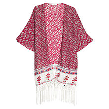 Buy Mango Printed Fringe Kaftan Online at johnlewis.com