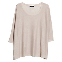 Buy Mango Wide Linen Jumper, Light Pastel Brown Online at johnlewis.com