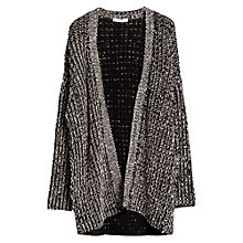 Buy Mango Monochrome Cardigan, Black / White, One Size Online at johnlewis.com