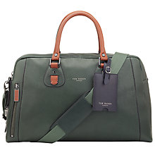 Buy Ted Baker Mazebag Leather Bowler Bag, Green Online at johnlewis.com
