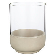 Buy John Lewis Stone and Glass Small Hurricane Lamp Online at johnlewis.com