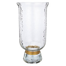 Buy John Lewis Dimpled Glass Medium Hurricane Lamp Online at johnlewis.com