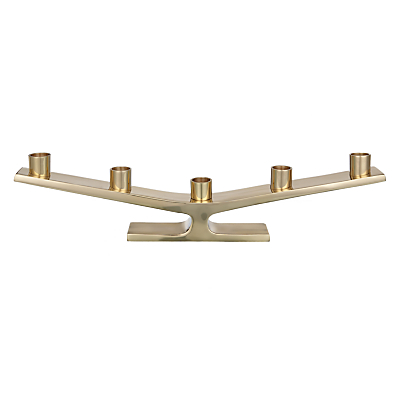 John Lewis Span Brass Candle Holder, Gold
