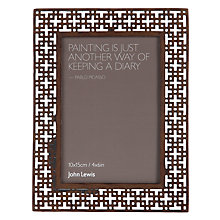 "Buy John Lewis Fretwork Photo Frame,  4 x 6"" (10 x 15cm) Online at johnlewis.com"