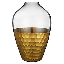 Buy John Lewis Gold Facet Urn Vase Online at johnlewis.com
