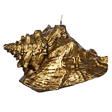 Buy John Lewis Gold Shell Candle Online at johnlewis.com
