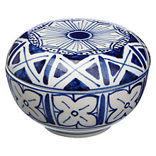 Buy John Lewis Fusion Ceramic Bowl, Blue Online at johnlewis.com