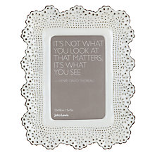 "Buy John Lewis Lace Photo Frame, 4 x 6"", White Online at johnlewis.com"