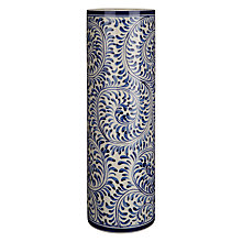 Buy John Lewis Maison Patterned Ceramic Vase, Blue Online at johnlewis.com