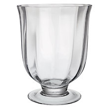 Buy Decoris Glass Footed Hurricane Lamp Online at johnlewis.com