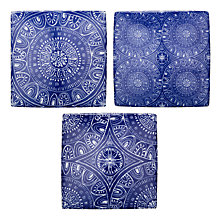 Buy John Lewis Fusion Blue and White Tile, Assorted Online at johnlewis.com