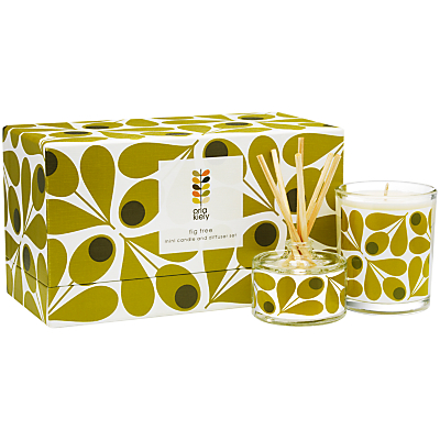 Orla Kiely Fig Tree Candle and Diffuser Gift Set