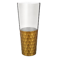 Buy John Lewis Gold Facet Tall Vase Online at johnlewis.com