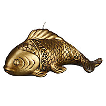 Buy John Lewis Gold Fish Candle Online at johnlewis.com