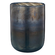 Buy Decoris Small Glass Cylinder Vase, Blue Online at johnlewis.com