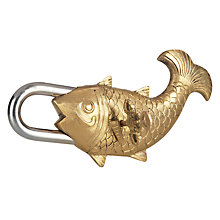 Buy John Lewis Fusion Decorative Fish Padlock Online at johnlewis.com