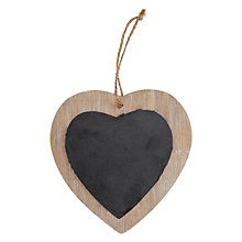 Buy Decoris Blackboard Hanging Heart Online at johnlewis.com