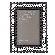 "Buy John Lewis Chain Photo Frame, 4 x 6"", Brown Online at johnlewis.com"