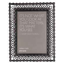 "Buy John Lewis Chain Photo Frame, 7 x 5"", Brown Online at johnlewis.com"