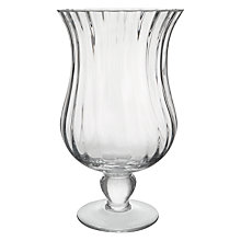 Buy Decoris Glass Footed Hurricane Lamp, Small Online at johnlewis.com