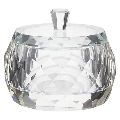 John Lewis Glass Faceted Cotton Jar