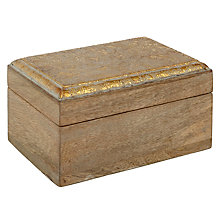 Buy Gold Paisley Wooden Box Online at johnlewis.com