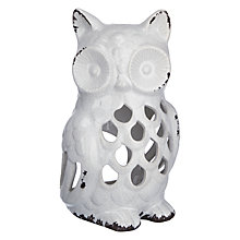 Buy John Lewis Ceramic Owl Tealight, Large Online at johnlewis.com