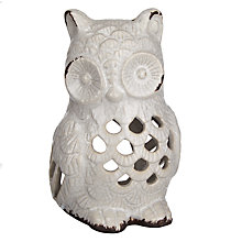 Buy John Lewis Ceramic Owl Tealight, Small Online at johnlewis.com