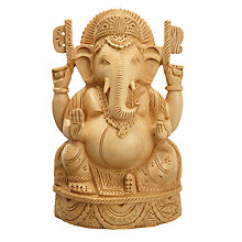 Buy Carved Wooden Decorative Ganesh Online at johnlewis.com
