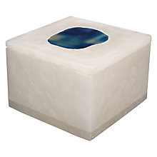Buy John Lewis Hotel Agate Box, Blue Online at johnlewis.com