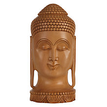 Buy Carved Wood Buddha Head Ornament Online at johnlewis.com