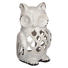 Buy John Lewis Ceramic Owl Tealight, Medium Online at johnlewis.com