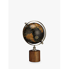 Buy John Lewis Globe on Wooden Stand, Black Online at johnlewis.com