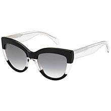 Buy Marc by Marc Jacobs MMJ455/S Cat's Eye Sunglasses, Black/White Online at johnlewis.com
