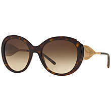 Buy Burberry BE4191 Round Sunglasses, Tortoise Online at johnlewis.com