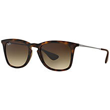 Buy Ray-Ban RB4221 Square Framed Sunglasses, Black Online at johnlewis.com