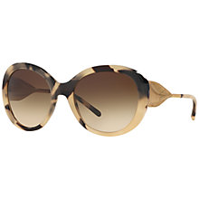 Buy Burberry BE4191 Round Sunglasses, Brown Online at johnlewis.com