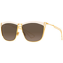 Buy Christian Dior Diorsoelectric Sunglasses, Brown Online at johnlewis.com
