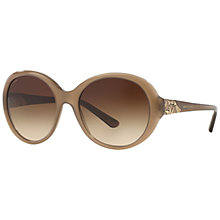 Buy Bvlgari BV8154B Oversized Oval Sunglasses, Brown Online at johnlewis.com