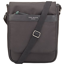 Buy Ted Baker Core Nylon Flight Bag, Black Online at johnlewis.com