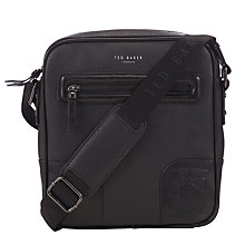 Buy Ted Baker Bayzoom Embossed Corner Flight Bag, Black Online at johnlewis.com