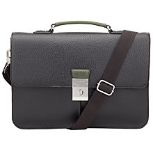 Buy Ted Baker Lockah Pebble Grain Messenger Bag, Black Online at johnlewis.com