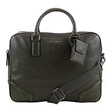 Buy Ted Baker Contrast Corner Document Bag, Green Online at johnlewis.com