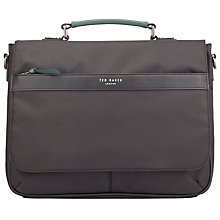Buy Ted Baker Core Nylon Document Bag, Black Online at johnlewis.com