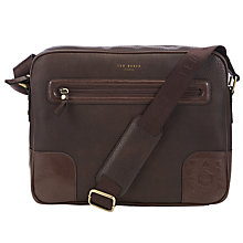 Buy Ted Baker Jaboom Embossed Corner Document Bag, Black Online at johnlewis.com