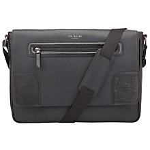Buy Ted Baker Bertwo Embossed Corner Messenger Bag, Black Online at johnlewis.com